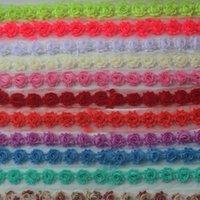 DHL / EMS libre 60y 1,5 pulgadas petite lamentables de la gasa de la flor para los accesorios del pelo de las muchachas, flores de gasa en mal estado de la venda del bebé, fuentes del arte bricolaje