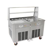 최고의 판매 중국어 튀긴 요구르트 기계 팬 튀김 아이스크림 기계 얼음 트레이 기계