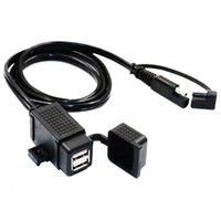 MOTOPOWER MP0609C 3. 1Amp Waterproof Motorcycle Dual USB Char...