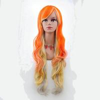 48pcs-Belle capuche longue perruque cheveux faux Halloween carnaval nécessaires pour fête cosplay perruques 80 cm animé vendre comme des petits pains chauds