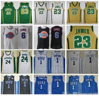 St Vincent Mary High School Irish 23 Jerseys LeBron James Blanco Verde St. Patrick Kyrie Irving Baloncesto Jersey Tune Squad Duke Blue Devils
