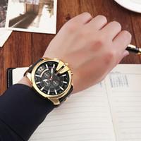 Relogio Masculino Herrenuhr Top-Marke Luxus-Lederband Wasserdichte Sport-Mann-Quarz-Uhr-Militär Male Uhr Curren 8176