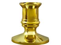 البلاستيك مطلية بالذهب شمعة قاعدة حامل الدعامة شمعدان حامل لشموع الالكترونية التناقص التدريجي حفلة عيد الميلاد ديكور منازل