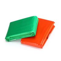Sacco a pelo per il salvataggio di emergenza all'aria aperta Calore Preservate Protezione solare per l'addensamento PE Coperte Arancione Verde a prova di freddo Campeggio portatile per coperte 6 8ytD1