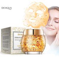 BIOAQUA Natürliches Osmanthus-Blütenblatt Schlafmaske Feuchtigkeitsspendende Ölsteuer Helle Blütenblätter Maske Gesichtspflege Maske