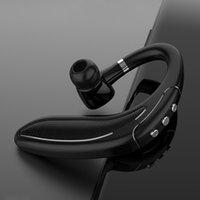 Negocio de auriculares Bluetooth con micrófono de manos libres estéreo para la conducción de llamadas Deportes Hifi cancelación de ruido gancho para la oreja auricular para el iPhone Samsung LG