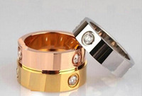 titanium steel silver rose gold love ring gold ring for love...