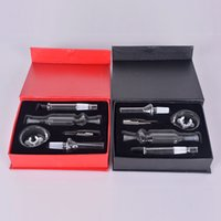 Acero 10mm NC kits con Domeless cristal inoxidable Tip Mini Kit fumadores NC Tubos de vidrio de agua Bong