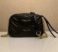 2020 Qualitäts-Frauen Handtaschen Goldkette Umhängetasche Soho-Tasche Disco Neueste Art Die beliebtesten Handtaschen Feminina kleine Tasche Brieftasche 21CM