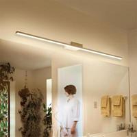 Nouvelle Arrivée Chaude Noir / Blanc 400/600/800/1000 / 1200mm Led miroir de salle de bains lumières Moderne maquillage dressing salle de bains led lampe de miroir