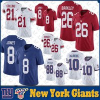 26 Saquon Barkley New jersey York Mens 8 Daniel Jones 10 Eli Manning 56 Lawrence Taylor Giant Stitched NY Football Jerseys