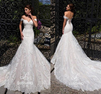 Vintage Off Shoulder Mermaid Wedding Dresses 2019 Full Lace ...