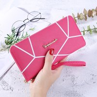New 2019 long style wallet with geometric pattern ladies fas...