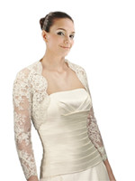 أنيقة الرباط طويل الأكمام الوهم الزفاف الزفاف جاكيتات بوليرو الأبيض العاج مخصص مصمم ل فستان الزفاف العباءات زائد الحجم