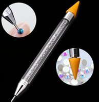 Double- headed Nail Polish Pen Art Dotting Pens Drill Point P...