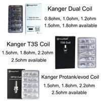 Authentique Kanger nouvelle double unité de bobine protank T3S pour bobines kangertech Protank 3 genitank emow aerotank méga T3D Evod Mini Protank 2 feuillets T3