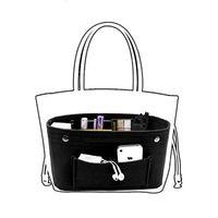 Organizador De Armazenamento De maquiagem, Sentiu Pano Inserir Saco Cosmético Multi-bolsos Se Encaixa em Bolsa de Higiene Pessoal Cosméticos Saco para Organizador de Viagem