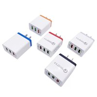 3 Port Fast Quick Charge QC 3. 0 USB Hub Wall Charger Power A...