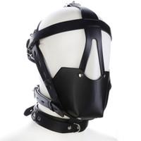 Masks Restraint Hood Mask Sex Fetish Bondage Gear Interest Head Mask Sex Toys for Couples J10-74