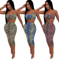 Women Dress Suit Print Sleeveless Bra Crop Tank Vest + Semi- t...