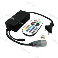 Controladores RGB AC110V 220V Controlador 24 Teclas RF Wireless RF Control remoto para tira LED DHL
