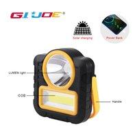 GIJOE levou worklight impermeável 2000LM banco de potência luz solar ponto portátil 3 modos de trabalho cob usb luz gancho de plástico recarregável