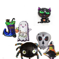 Halloween Balloons Ghost Skull Witch Cat Boot Spider Halloween Decoration Foil Balloon Inflatable Toy Party Supplies JK1909