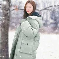 Femmes Down caraco long Parka à capuche Épaissir chaud Veste d'hiver solide Casual Manteau d'hiver Manteau Femme Outwear Veste hiver