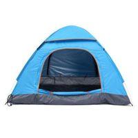 Campamento de verano plegable a prueba de lluvia al aire libre Tienda de campaña portátil a prueba de viento Familia familiar Refugio Senderismo Pesca Carpas al aire libre Refugios CTS002