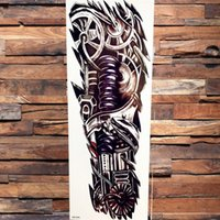 2021 Warrior Soldier Black Temporary Tattoo Stickers For Men Full Body Art Arm Sleeve Tattoo Large Waterproof Tatoo Girl Bikini