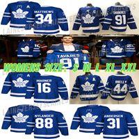 Toronto Maple Leafs Jersey Womens 91 John Tavares 34 Auston Matthew 16 Mitchell Marner 88 William Nylander Hockey Jerseys