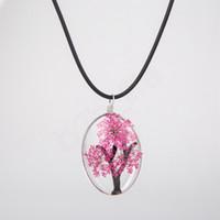 Secco Collana Donna Fiore di vetro ovale Albero della Vita terrario Designer Classic collane signora Jewelry Choker del partito regalo LJJA3722-6