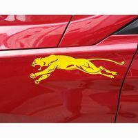 Cheetah Автомобильные наклейки Личность До и после Бампер Царапины автомобилей Декоративные наклейки Наклейки