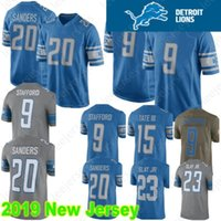 f0198bc3e Detroit 9 Matthew Stafford Lion Jersey 20 Barry Sanders 23 Darius Slay Jr  15 Golden Tate III 100% Stitched High Quality Football Jerseys