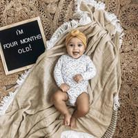 Новорожденные Пеленального Муслин Unisex Твердой кисточку Одеяла Одеяла Принимающего Пеленальный Wrap