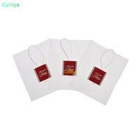 La bolsita de té Pyramid filtra una sola cuerda de nylon con las bolsitas de té vacías transparentes de la etiqueta
