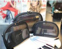 Женская сетка знаменитый бренд 3шт / набор тщеславие косметический чехол роскошный макияж органайзер сумка туалетные клубы сцепления сумка бутик свадьба подарок
