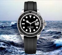 Mechanische Uhr der Männer ,.cineramischer Kragen, 2813 Uhrwerk, 316 feiner Stahl, Gummi-Armband, Herrensportuhr.42 mm