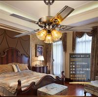 Потолочный светильник LED 110-220V Вентилятор лампы ресторан вентилятор лампы гостиная европейский стиль ретро минималистский домашний вентилятор лампы Включая лампы