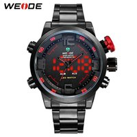 WEIDE LED Watches Mens Stainless Steel Sport Analog Digital ...