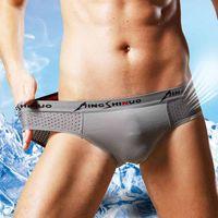 Ice Silk Modal Calcinha Mens Underwears Boxers Holes Malha Respirável Homens Underwear Briefs Verão Mens Boxers Boxers Shorts Roupa