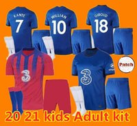 Kit enfants adultes 2020 2021 KANTE ABRAHAM MOUNT LAMPARD ODOI Jorginho soccer jersey PULISIC 2020 2021 GIROUD chemise WILLAN de football