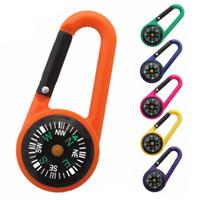 ABS Pusula Anahtarlık Çok Fonksiyonlu Yürüyüş Plastik Karabina Mini Pusula Termometre Açık Kamp Halka Pusula FT51 Asma