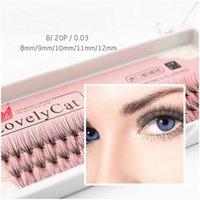 2 Stijl Eye Lash Extension Faux Mink Eyelashes Individuele wimper wimpers Zachte wimper Extensiones False wimper hoge kwaliteit