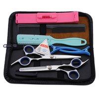 aço inoxidável casa barbeiro cabelo cabeleireiro tesoura tesoura kit de corte desbaste ferramentas de cabelo tesouras com saco