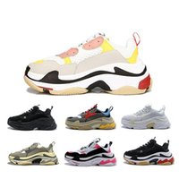 Triple S Designer Casual Shoes Paris 17FW Low Old Dad Sneaker Combination Soles Boots Mens Womens Fashion High Top Quality Size 36-45