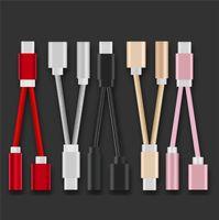 2 en 1 Type C Pour Jack Audio Aux 3.5MM Usb Câble C Type C femelle Câbles de charge de fil pour Samsung Huawei LeTV