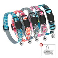 Quick Release Cat Collar With Bell Personalized Kitten Colla...