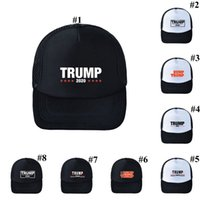 Trump Cappello da baseball 8 stili regolabile Estate rendere l'America Great Again Trump 2020 Snapback Caps Mash Partito Cappelli OOA8002