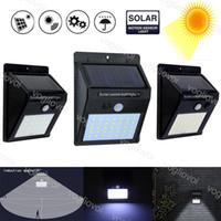 Lampes solaires Sécurité Lights Capteur de mouvement 20ELÉS SOINSEDS 3ELLEDS EMPERMELABLES IP65 Éclairage extérieur pour le mur de jardin EUB